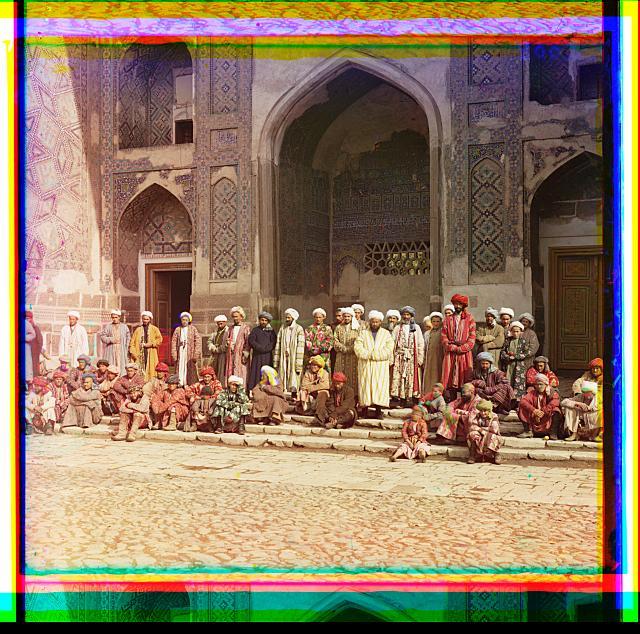 On the Registan. Samarkand. Samarqand, Uzbekistan.